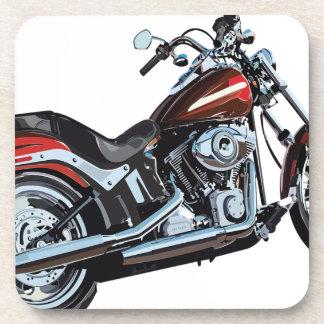 Dessous-de-verre Motard de vélo de moto