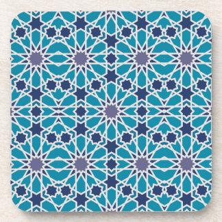 Dessous-de-verre Motif abstrait dans bleu et gris