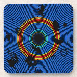 Dessous-de-verre Motif multicolore de cercle de bleu de ciel