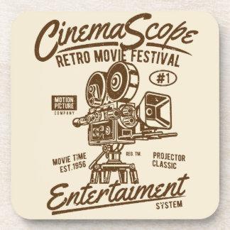 Dessous-de-verre Mouvement classique d'appareil-photo de Hollywood