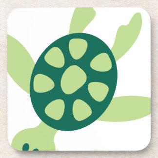 Dessous-de-verre Natation de tortue verte