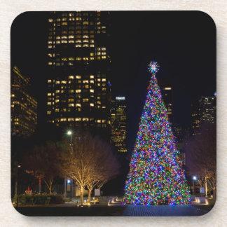 Dessous-de-verre Noël la nuit parc de terriers