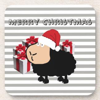Dessous-de-verre Noël mignon drôle de moutons de bande dessinée de