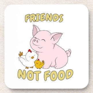 Dessous-de-verre Nourriture d'amis pas - porc et poulet mignons