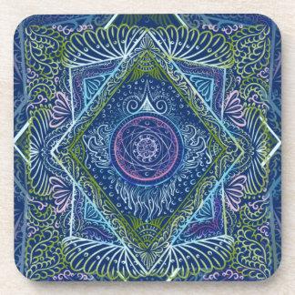 Dessous-de-verre Nouveau réveillez - le bleu de nuit, reiki,