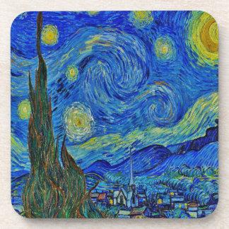 Dessous-de-verre Nuit étoilée de Van Gogh