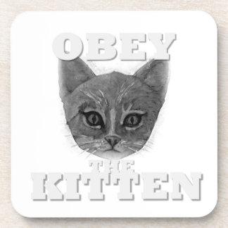 Dessous-de-verre Obéissez le chaton