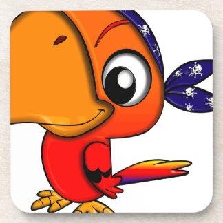 Dessous-de-verre Oiseau énorme de bande dessinée de bec