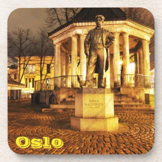 Dessous-de-verre Oslo, Norvège la nuit