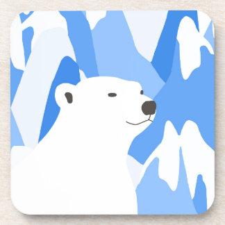 Dessous-de-verre Ours blanc dans la conception froide
