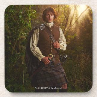 Dessous-de-verre Outlander   Jamie Fraser - en bois