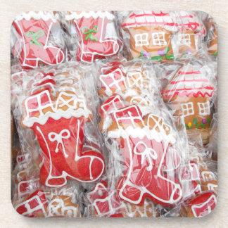 Dessous-de-verre Pain d'épice avec du sucre glaçant pour Noël