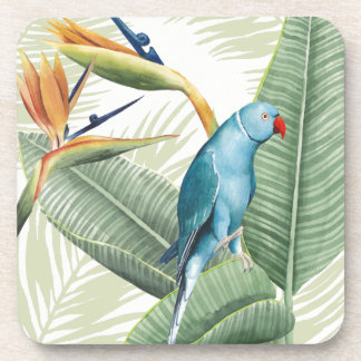 Dessous-de-verre Palmettes avec l'oiseau bleu