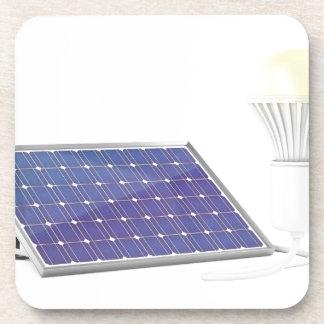Dessous-de-verre Panneau solaire et ampoule