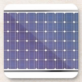 Dessous-de-verre Panneau solaire sur le blanc