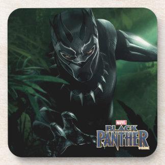 Dessous-de-verre Panthère noire | dans la jungle