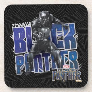 Dessous-de-verre Panthère noire | T'Challa - graphique de panthère