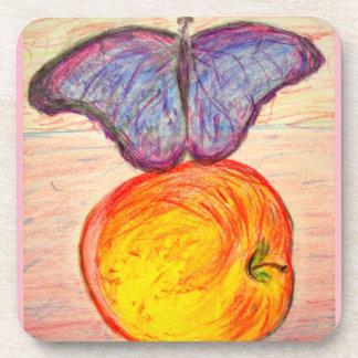 Dessous-de-verre Papillon et Apple