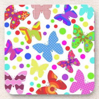 Dessous-de-verre Papillons et pois mignons de Corourful