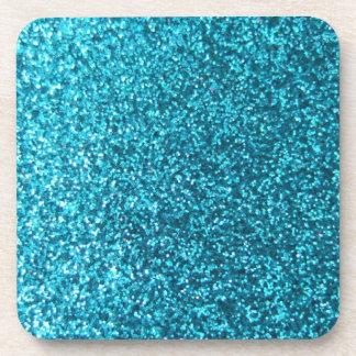 Dessous-de-verre Parties scintillantes bleues de Faux