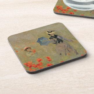 Dessous-de-verre Pavots sauvages de Claude Monet  , près