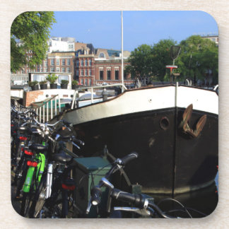 Dessous-de-verre Péniche et bicyclettes, Amsterdam