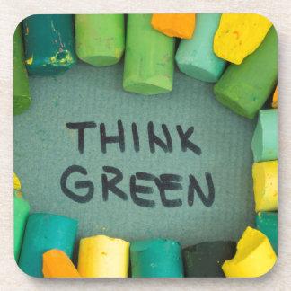 Dessous-de-verre Pensez le vert, concept d'écologie