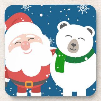 Dessous-de-verre Père Noël et l'ours