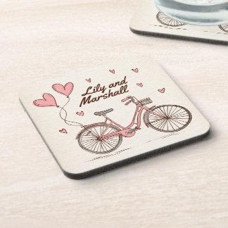 Dessous de verre personnalisés des coeurs | de