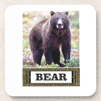 Dessous-de-verre petit animal d'ours dans l'art