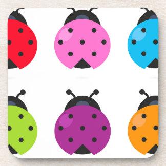 Dessous-de-verre Peu d'abeilles merveilleuses de couleur de ressort