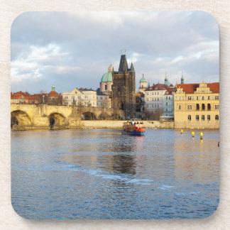 Dessous-de-verre Photo de souvenir de Prague de rivière de Vlatva