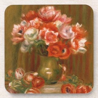Dessous-de-verre Pierre anémones de Renoir un |