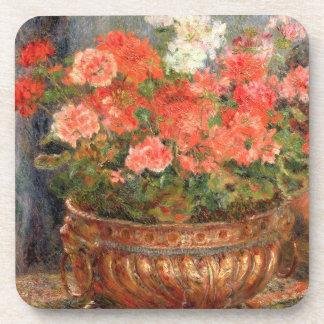 Dessous-de-verre Pierre géraniums de Renoir un | dans un bassin de