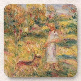 Dessous-de-verre Pierre un paysage de Renoir | avec l'épouse de