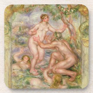 Dessous-de-verre Pierre un Renoir | Saone coulant dans le Rhône