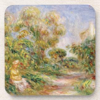 Dessous-de-verre Pierre une femme de Renoir | dans un paysage