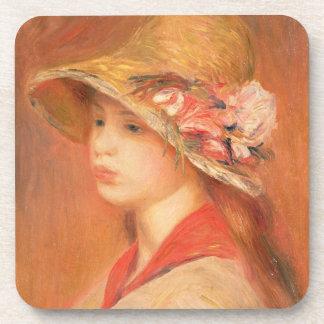Dessous-de-verre Pierre une jeune femme de Renoir | dans un