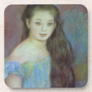 Dessous-de-verre Pierre une jeune fille de Renoir | avec des yeux