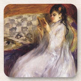 Dessous-de-verre Pierre une lecture de jeune femme de Renoir |