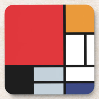 Dessous-de-verre Piet Mondrian - composition avec le grand avion