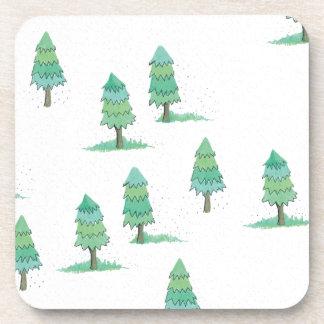 Dessous-de-verre pines winter plus forest