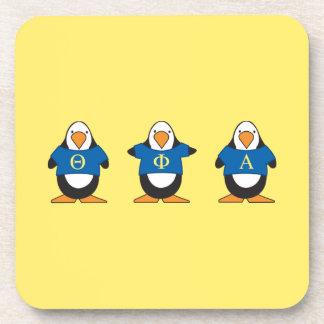 Dessous-de-verre Pingouins avec des chemises