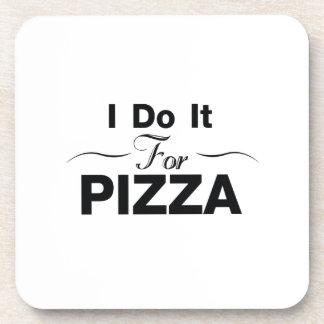 Dessous-de-verre Pizza de motivation de gymnase de yoga d'exercice
