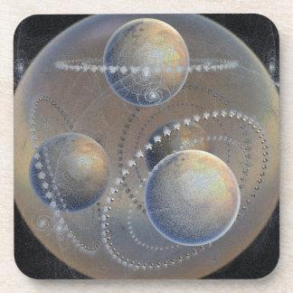 Dessous-de-verre Planètes enes ivoire