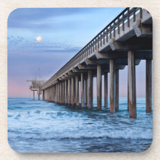 Dessous-de-verre Pleine lune au-dessus de pilier, la Californie