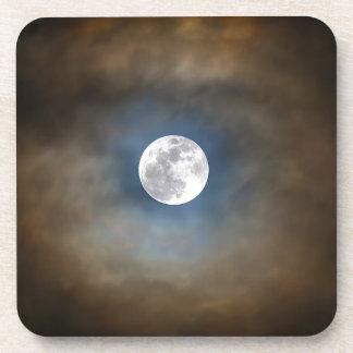 Dessous-de-verre Pleine lune dans les nuages