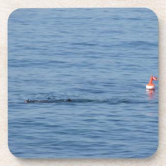 Dessous-de-verre Plongeur de mer dans le bain de costume de