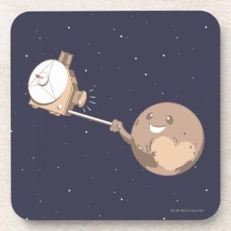 Dessous-de-verre Pluton Selfie