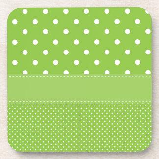 Dessous-de-verre pois sur le vert
